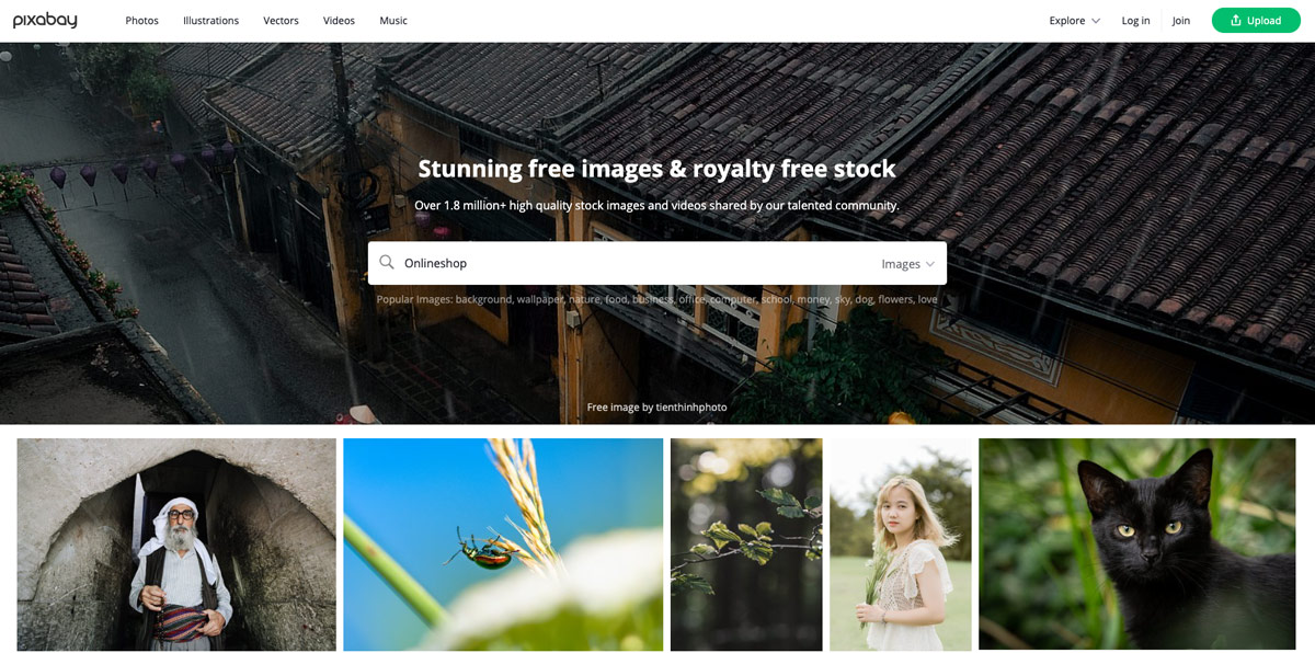 image research with pixabay for freely usable images