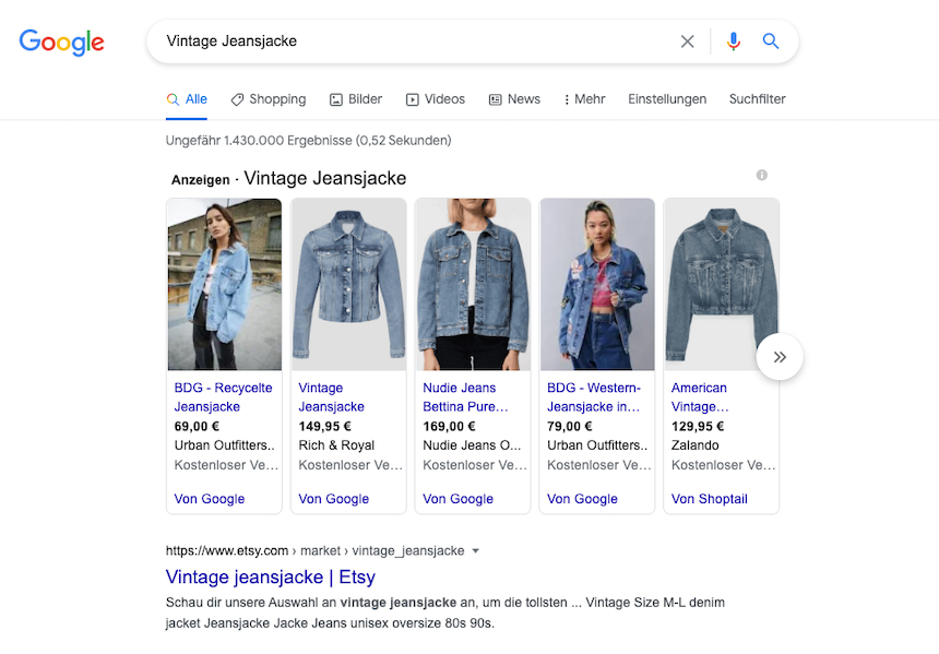 Shopping-Ads-example-Vintage-Jeans-Jacke