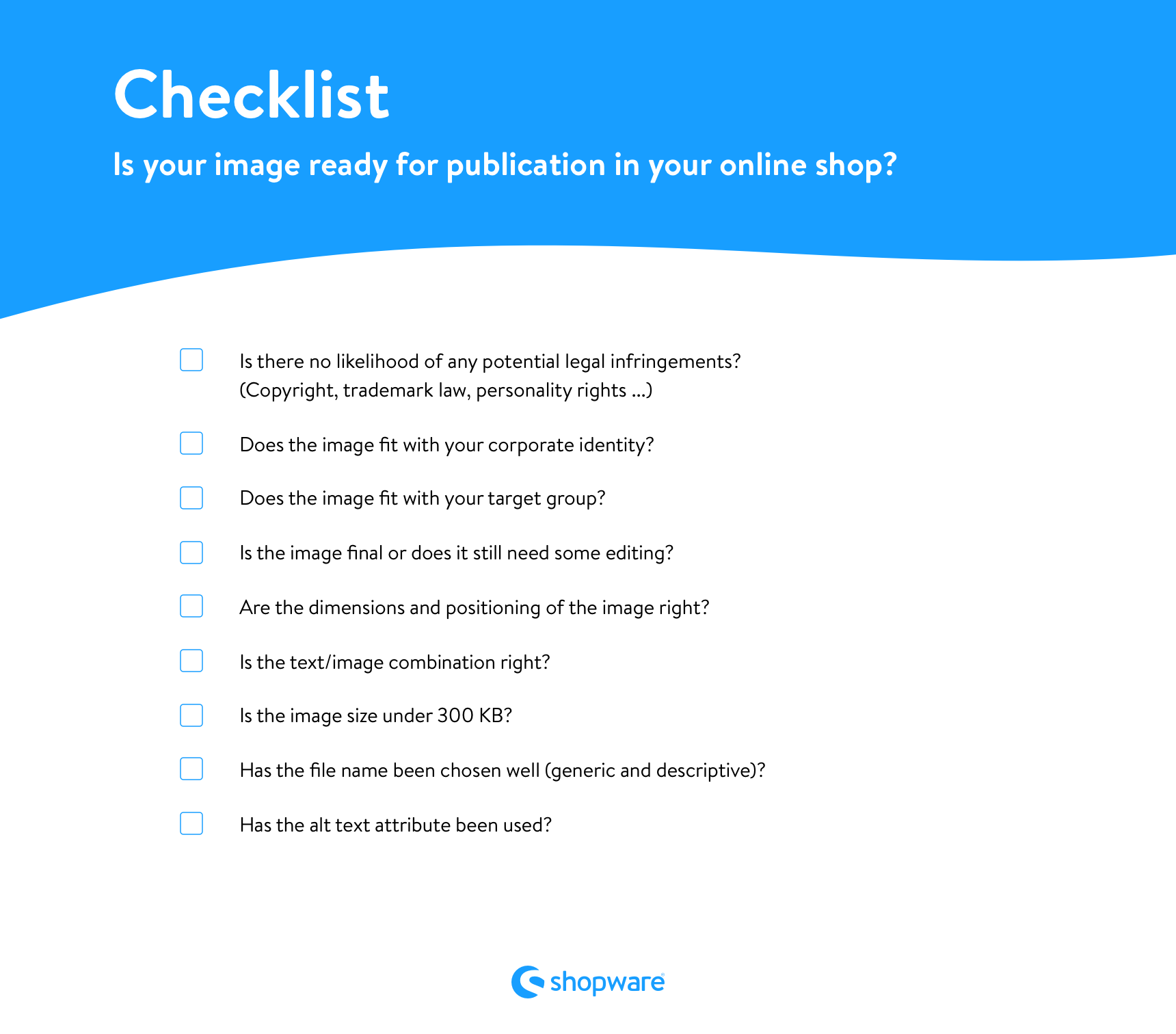 Checklist image readyness for publication